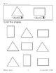 Color the Shapes: Yellow Triangles/Blue Rectangles