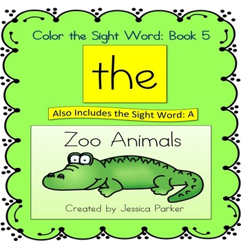 """Sight Word Book and Practice for """"The""""  Color the Sight Wo"""