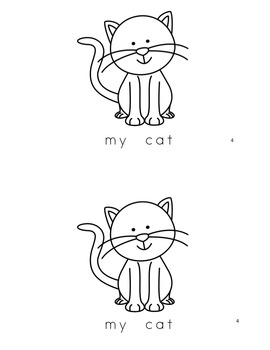 "Sight Word Book and Practice for ""My""  Color the Sight Word Book 8: My Pets"