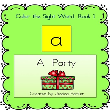 "Sight Word Book for ""A,"" Book 1"
