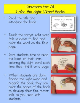 """Sight Word Book for """"A,"""" Book 1"""