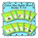 Sight Word Book Bundle, Set 1- A, I, The, My, Am  Color th