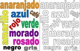Spanish Colors Class Sign / Poster and Coloring Activity