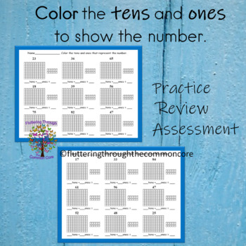 Tens and Ones  color to Represent the Number