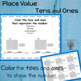 Place Value Worksheet Tens and Ones  color to Represent the Number