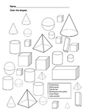 Color the Three Dimensional Shapes