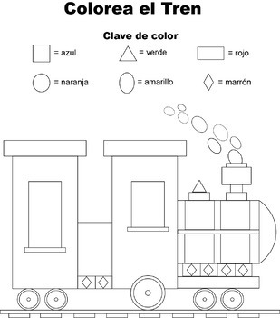 Color the Train-Spanish
