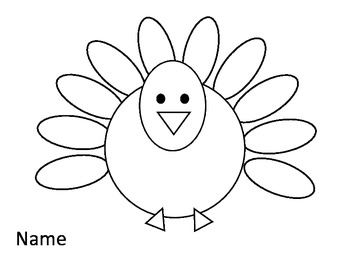 Color the Turkey Feathers Worksheet