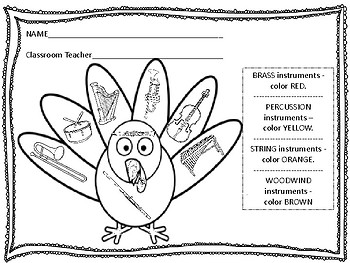Color the Turkey - Instrument Review