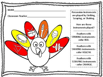 Color the Turkey - Percussion Review
