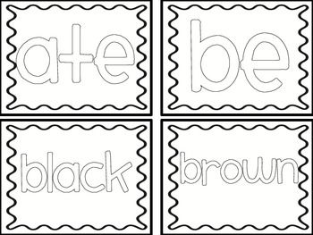 Color the Words!  {Kindergarten sight words}