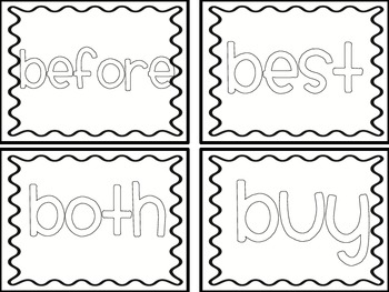 Color the Words! {2nd grade sight words}