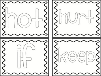 Color the Words! {3rd grade flashcards}