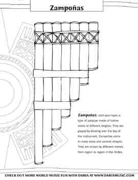 Color the Zampoñas  – Panpipes From The Andes
