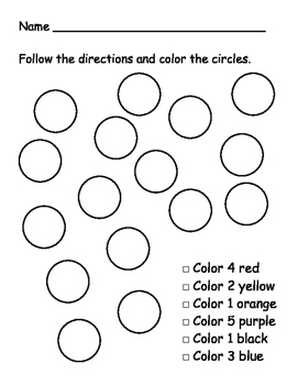 Color the correct number of circles.