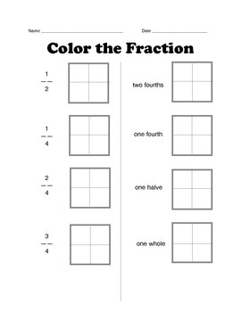 Color the fraction
