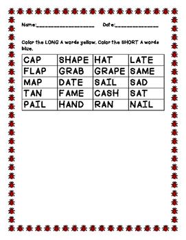 Long vs. Short vowels