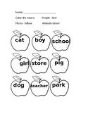 Color the noun apples
