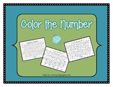 Color the number 1-10 - number recognition practice