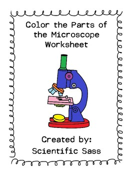 Color the parts of the microscope worksheet