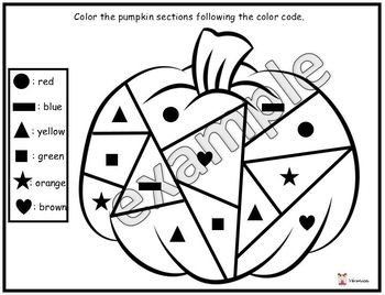 Color the pumpkin sections