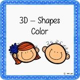 Color The 3D Shapes