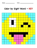 Color the sight word Emoji