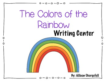 Color themed writing center