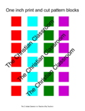 Color tiles, Printable Cut and Use 1 inch color tiles