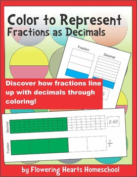 Color to Represent Fractions as Decimals