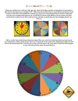Color-wheel Time Clock Overlay