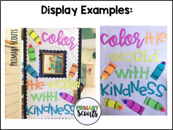 Color with Kindness Door or Bulletin Board - Back to School
