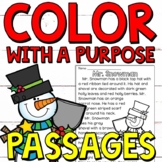Color with a Purpose Reading Passages (Christmas Edition) for 1st and 2nd Grades