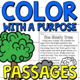 Color with a Purpose Reading Passages (SH Words) for First