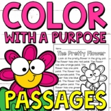 Color with a Purpose Reading Passages (Spring Edition) for