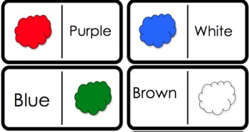 Color word dominoes