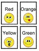 Color word flashcards. Flash cards for memorizing color words.