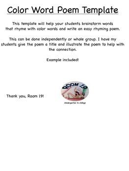 20 inspirational color poem template awwation. Com.