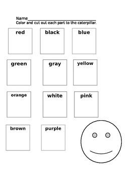 Color words art