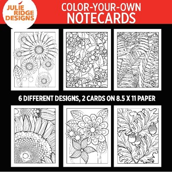 Color-your-own Notecards