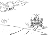 Color your own- Spooky Halloween Animation Background