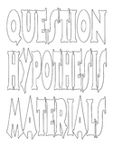 Color your own science fair board lables - 50 fonts