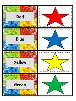 Color/Color Words (4 activities) - Matching/Memory & Clothes pin Activities