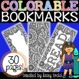 Colorable Bookmarks {30 PAGES!}
