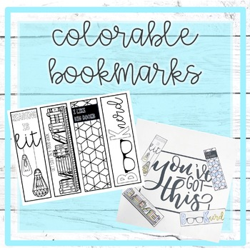 Colorable Bookmarks