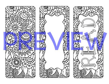 Colorable Bookmarks Bundle #2 {30 PAGES!}
