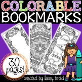 Colorable Bookmarks Bundle #2 {30 PAGES!}