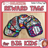 Reward Tags Your Students Can Color! Similar to Brag Tags
