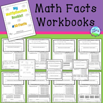 Colorable Math Facts Workbooks/Booklets/Guides - 2's through 10's