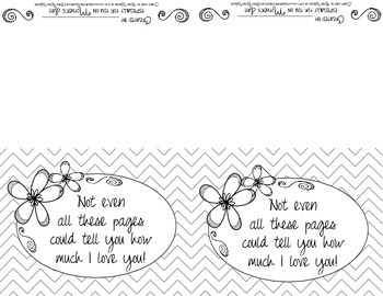Colorable Mother's Day Notebook for Mom